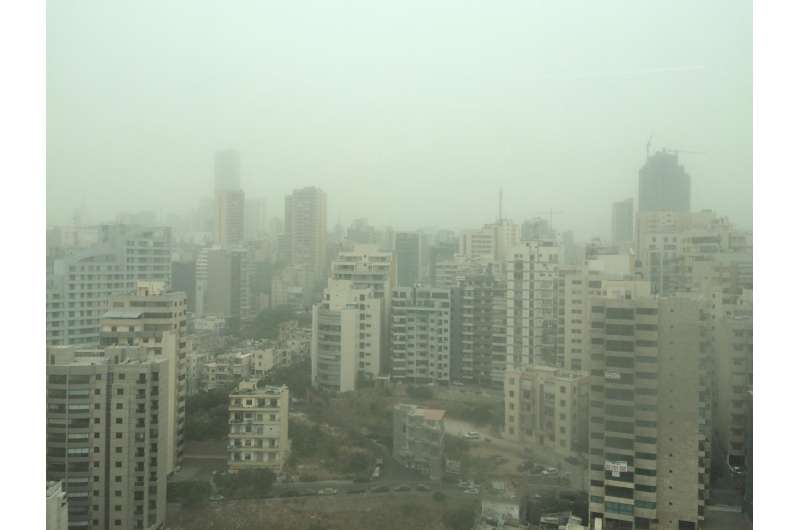 Giant Middle East dust storm caused by a changing climate, not human conflict
