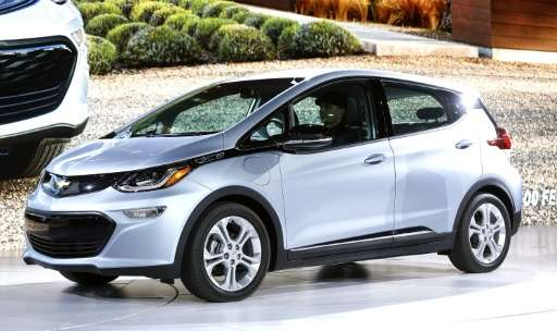 GM expects to become the first auto manufacturer to make a profit of electric vehicles such as the Chevrolet Bolt EV pictured he