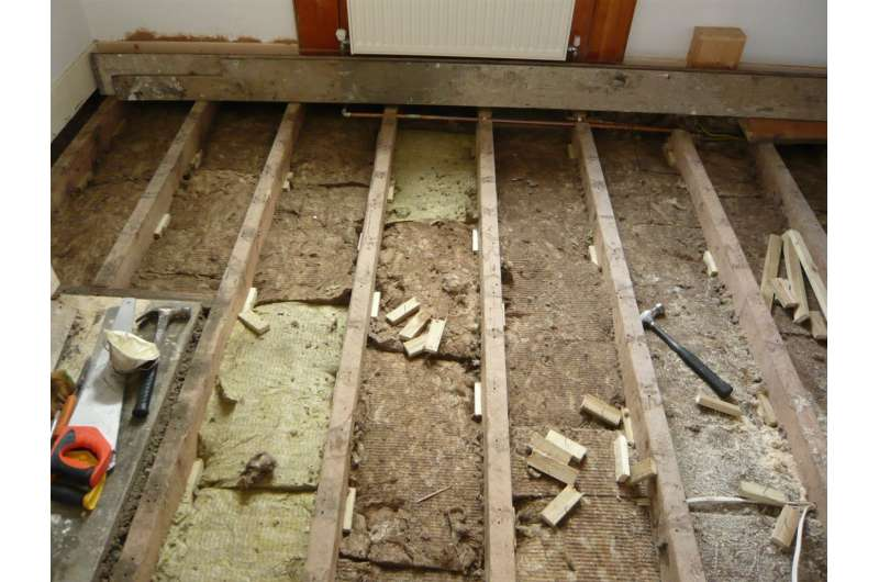 Ground-floor insulation can reduce floor heat loss by up to 92 percent