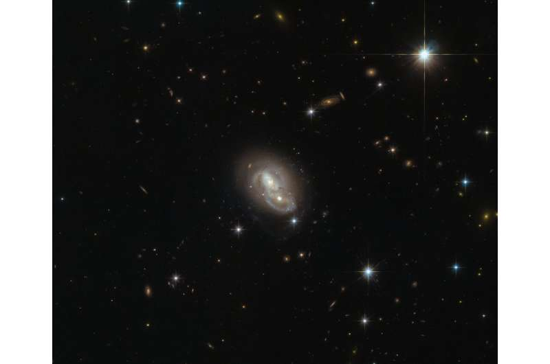 Hubble catches a galaxy duo by the 'hare'