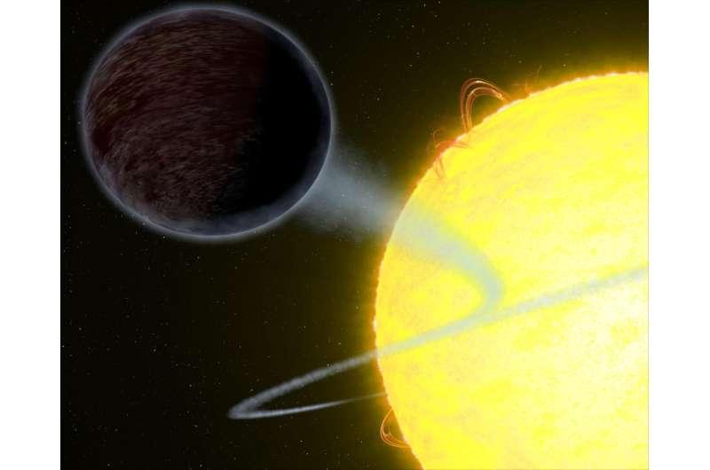 Hubble observes pitch black planet