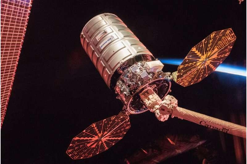 Image: Cygnus cargo spacecraft at sunrise