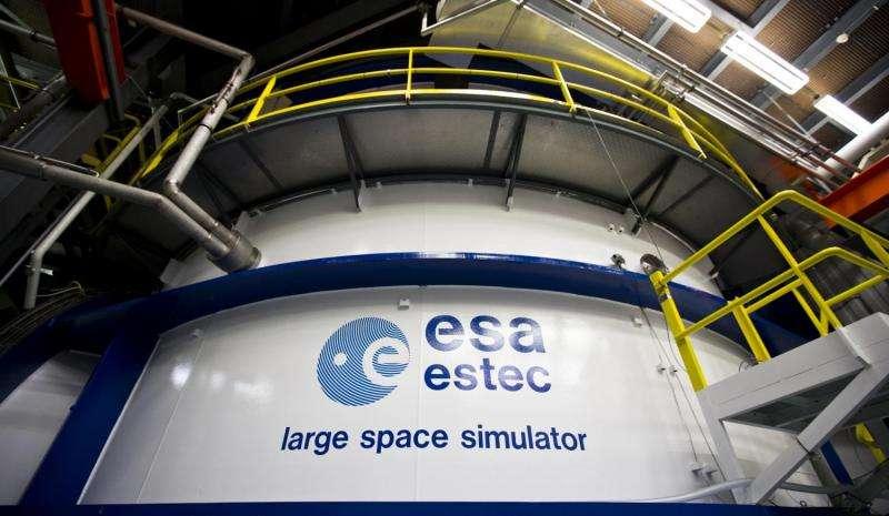 Image: Europe's largest vacuum chamber, the Large Space Simulator