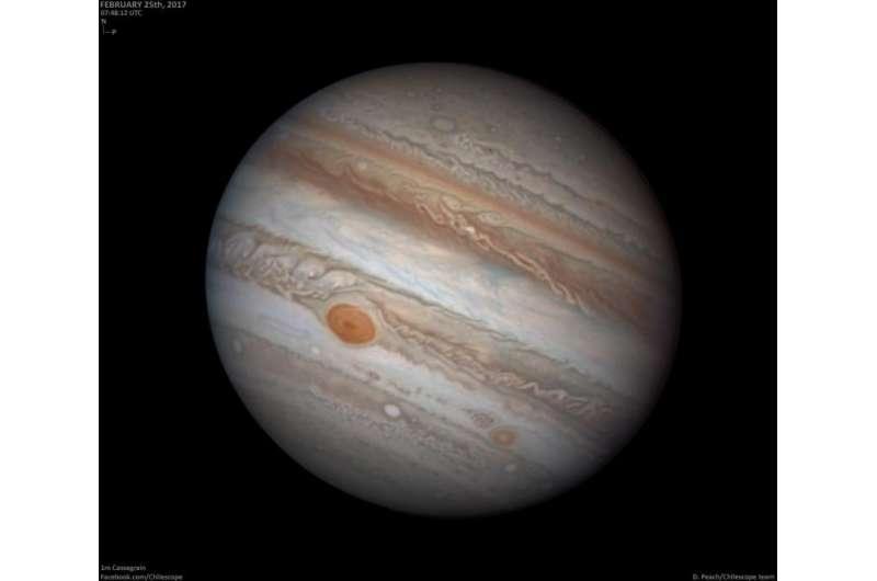 Image: Jupiter on 25 February 2017
