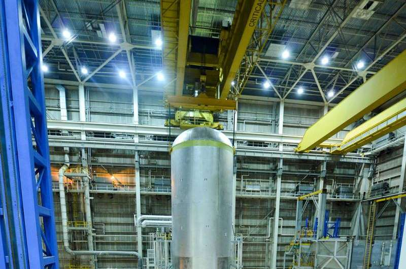 Image: Liquid propellant tanks for NASA's powerful Space Launch System rocket