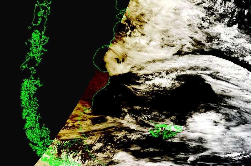 Image: NASA satellite spots moon's shadow over Patagonia