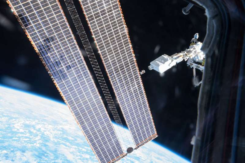 Image: Small satellite deployed from the Space Station