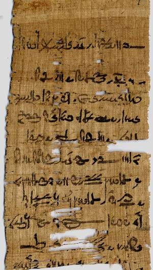 Ink from ancient Egyptian papyri contains copper