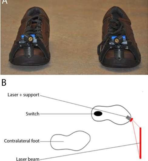 Laser shoes prevent 'freezing' in Parkinson patients