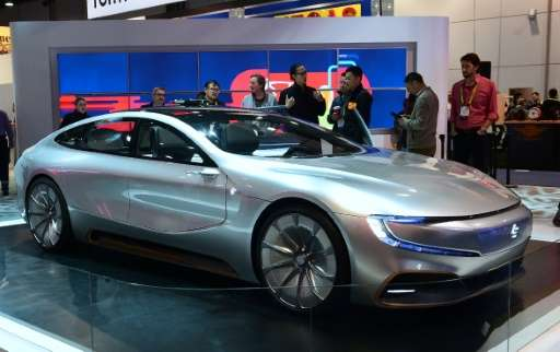 LeEco's LeSee Pro concept car on display at the 2017 Consumer Electronic Show in Las Vegas