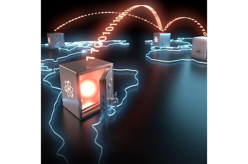 Long-lived storage of a photonic qubit for worldwide teleportation