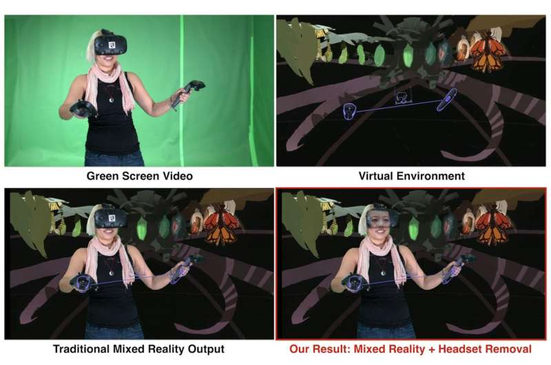 Look what happens when you virtually 'remove' headset for see-through effect