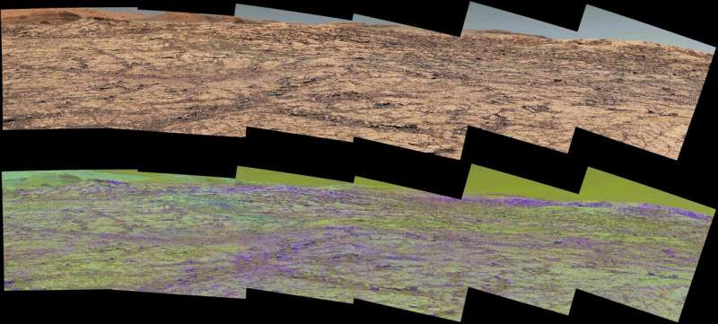 Martian ridge brings out rover's color talents