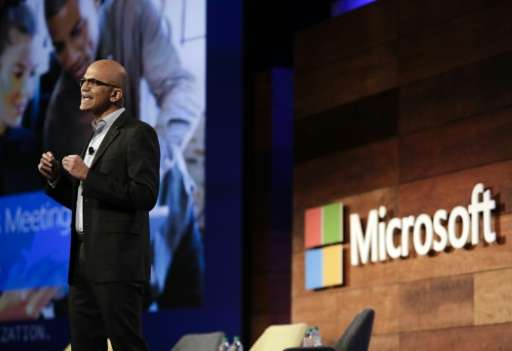 Microsoft CEO Satya Nadella, seen in 2016, is focusing the tech giant on services and Windows 10, which can integrate a variety