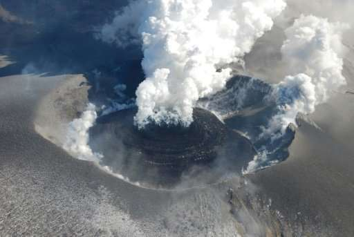 Mount Shinmoedake, one of Japan's scores of active volcanoes, last erupted in January 2011