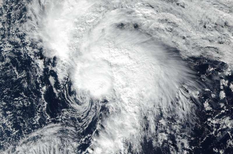 NASA eyes a comma-shaped Tropical Storm Rina