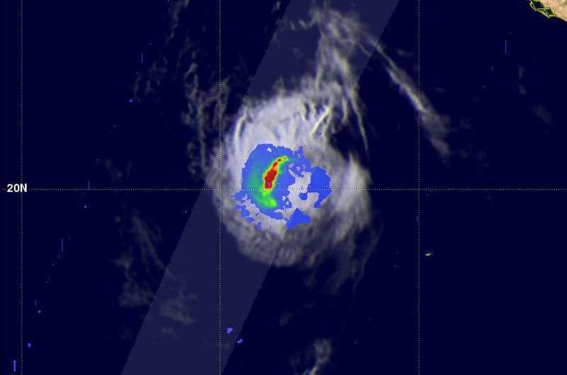 NASA finds rainfall diminishing in a weakening Tropical Storm Eugene