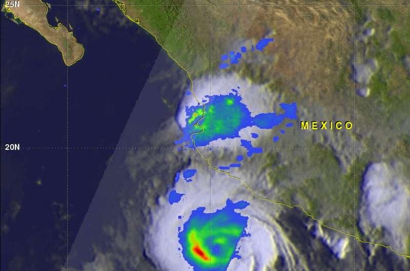 NASA looks at rainfall from Tropical Storm Dora