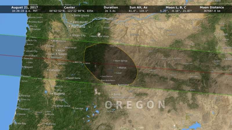 NASA moon data provides more accurate 2017 eclipse path