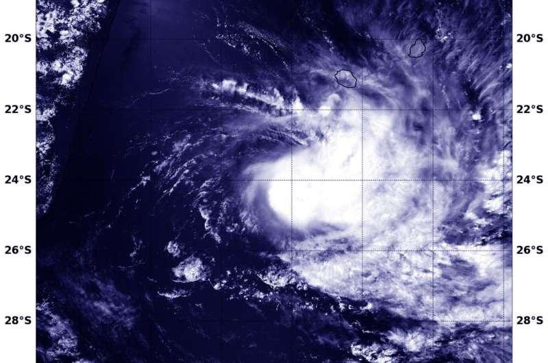NASA spots Tropical Cyclone Carlos south of La Reunion Island