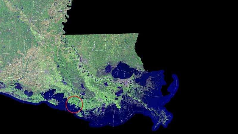 NASA studies a rarity— growing Louisiana deltas