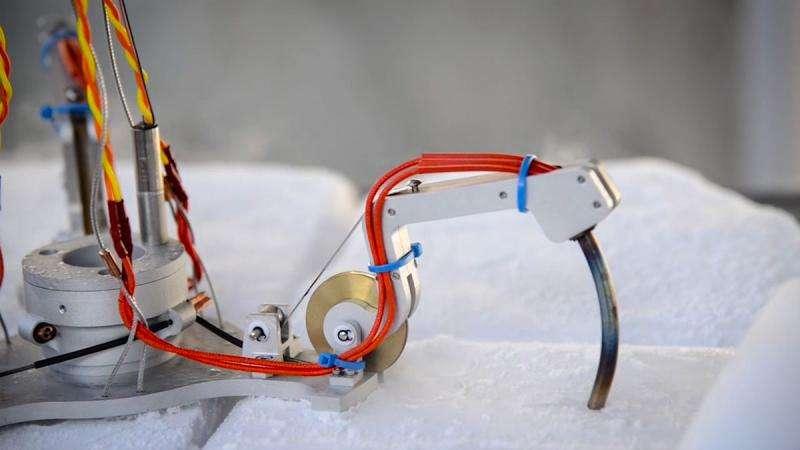 NASA tests robotic ice tools