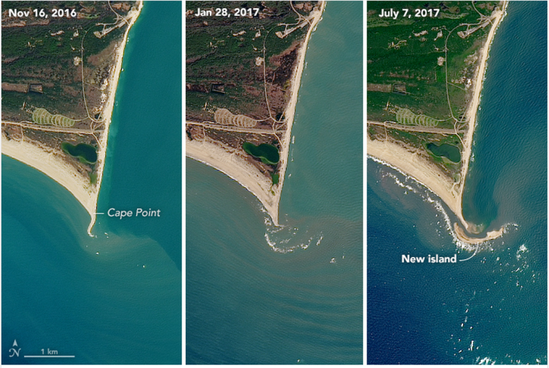 NC island's mysterious birth appears on NASA satellite images
