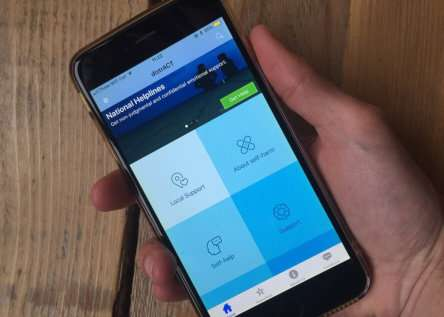 New app to prevent suicide launched