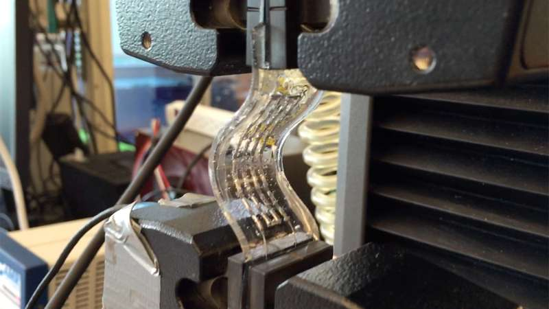 New design improves performance of flexible wearable electronics