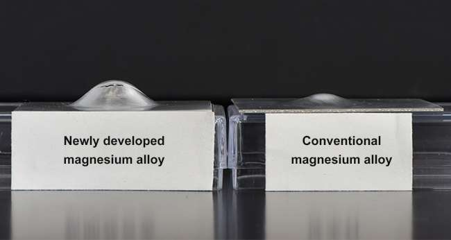 New light weight metal as formable as aluminum sheet metal with 1.5 times higher strength