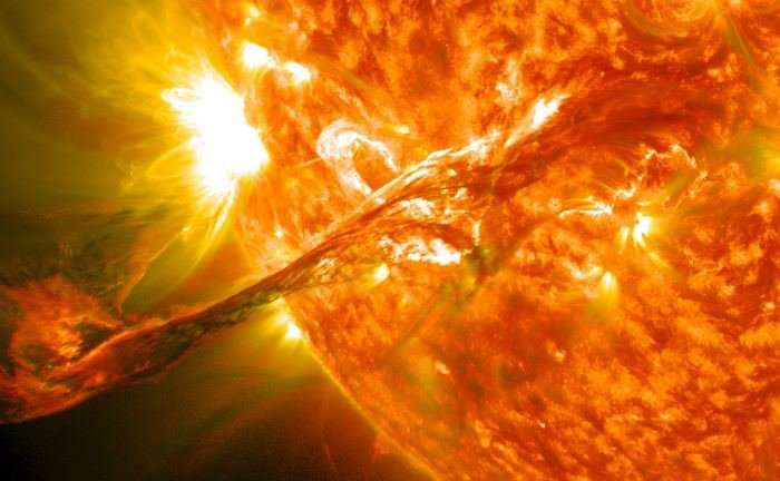 New study proposes a giant, space-based solar flare shield for earth