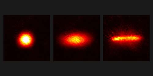 New type of light interaction with atoms allows for manipulating cloud shape