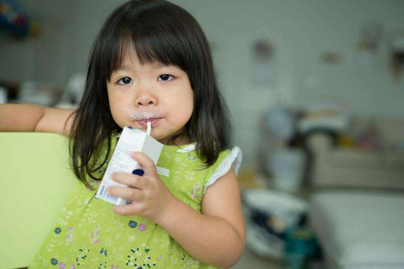 No chocolate milk? No problem—kids get used to plain milk