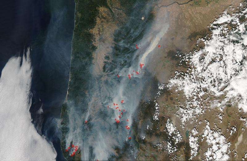 Numerous fires spread from north to south in Oregon