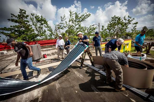 Off-grid, battery-free solar water purifier operating in Puerto Rico
