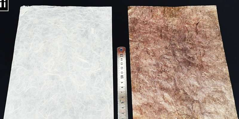 Paper-based supercapacitor uses metal nanoparticles to boost energy density