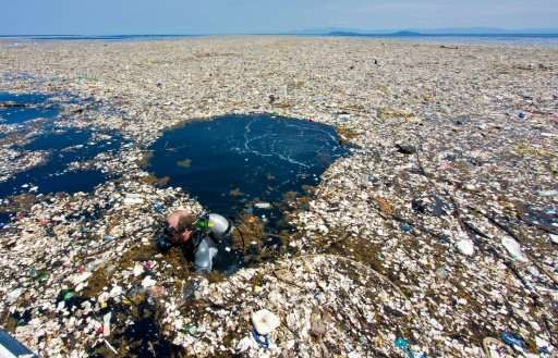 """Photographer Caroline Power said that a plastic waste island that she recently documented was """"tiny compared to the ones in"""