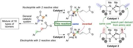 Pinpoint creation of chirality by organic catalysts