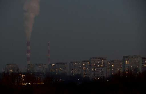 Poland's capital Warsaw is shrouded in a thick layer of smog as coal and waste-fired home furnaces drive up air pollution to the