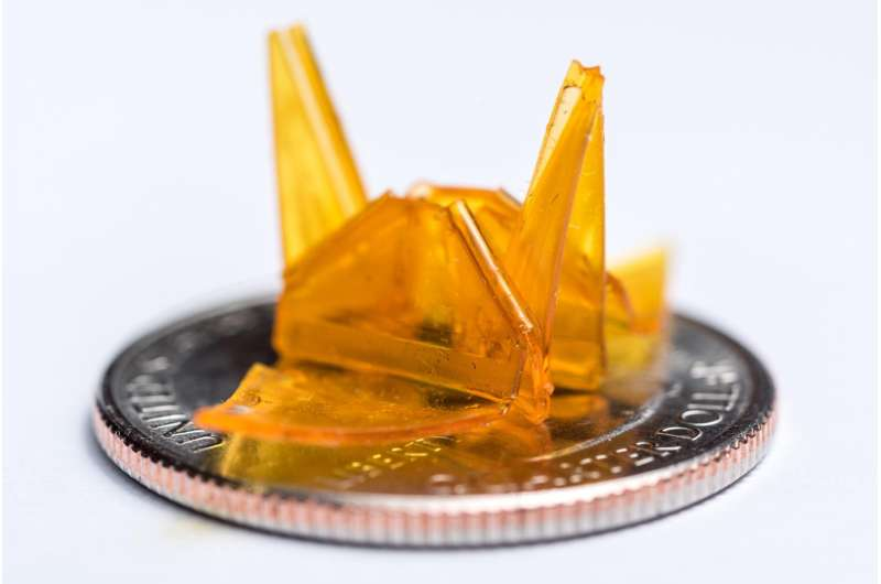PowerPoint & LED projector enable new technique for self-folding origami