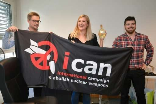 """Yes we can"" get rid of nuclear weapons—ICAN's chief Beatrice Fihn celebrates winning the Nobel Peace Prize with the g"