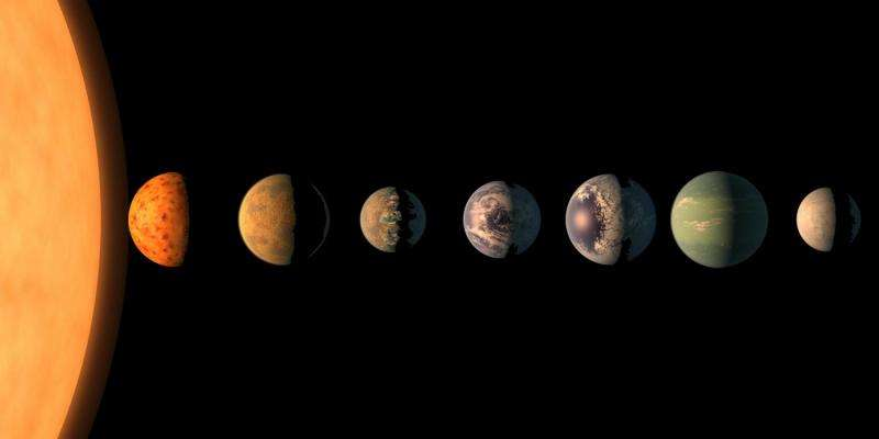 Recently discovered solar system could seed life between adjacent exoplanets