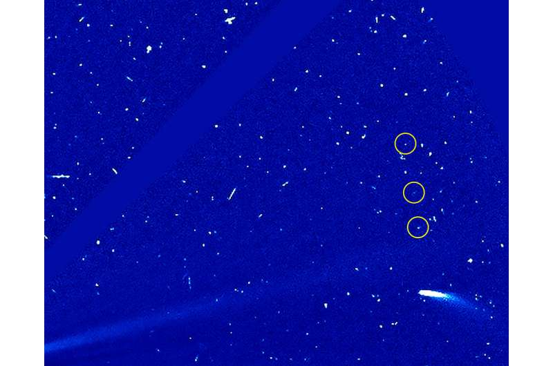 Return of the comet: 96P spotted by ESA, NASA satellites