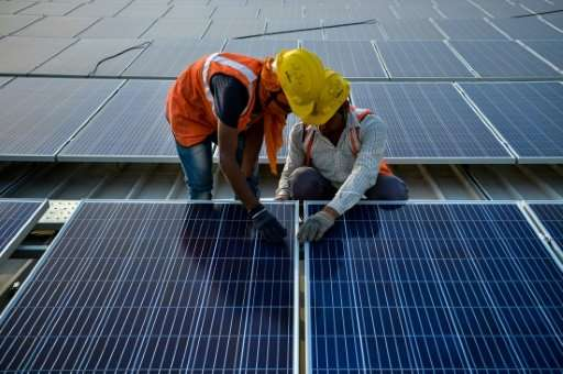Riyadh has set a target of 9.5 gigawatts of renewable energy by 2023, partly made up of a 300-megawatt solar project, like these