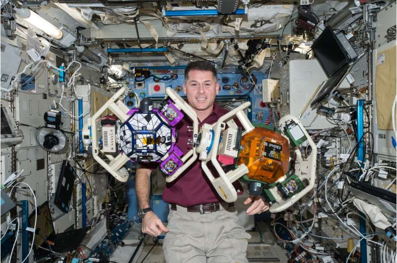 Robotic assistants on the International Space Station