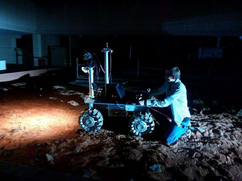 Rover test in darkness