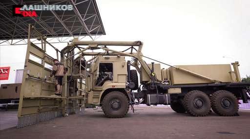 Russian Kalashnikov arms maker presents riot control vehicle
