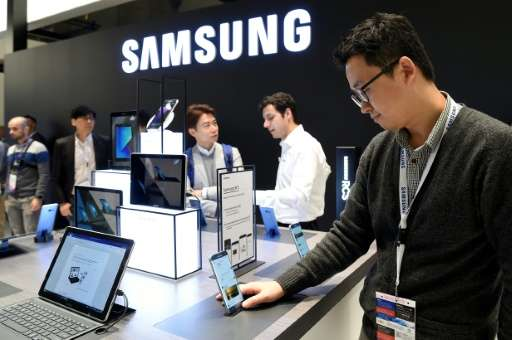 Samsung, whose booth at this year's Mobile World Congress is shown here, is unveiling a new personal assistant 'Bixby' that will