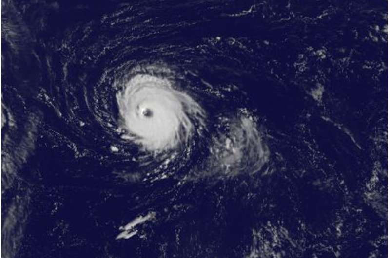 Satellite spots a tiny, mighty Hurricane Lee