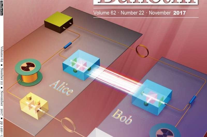 Secure information transmission over 500m fiber links based on quantum technologies